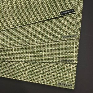 Chilewich Set of 4 Mini Basketweave Placemats Dill